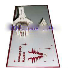 Christmas Eve church - 3D Pop up Christmas Card