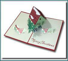 3D Pop up Christmas Card