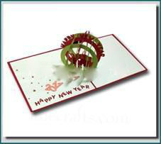 New year Global - 3D Pop up Greeting Card