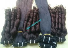 Weave human hair extensions made from 100% vietnamese virgin hair tangle free and shedding free