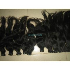 Single wavy machine weft hair,high quality asian