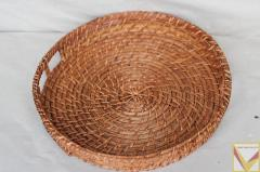 Rattan fruit basket with handles