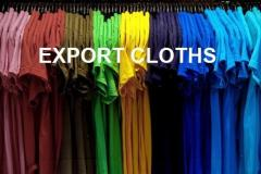 EXPORT CLOTHS