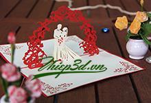 3D POP UP CARD WEDDING PW023