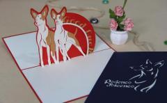 Pop up card Ibiza Dog