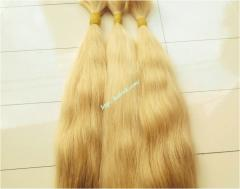 10 inch Blonde Hair Extensions Cheap - Wavy