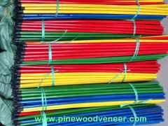 Wooden broom handle with PVC coated