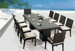 POLY RATTAN / WICKER DINNING FURNITURE SETS -