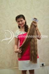 Bonded virgin human hair.