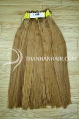 Естественный коричневый цвет человеческих волос от