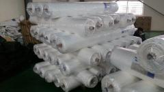 Transparent Leno scaffolding PE Tarpaulin, Mesh 3x3, UV treated, Roll packing