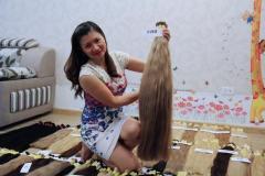 High quality color hair bulk hair