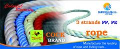 Professtionally produce 3 strands twisted pp rope