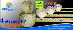 PP Rope 4 Strands with UV Protection and
