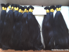 Natural human hair black