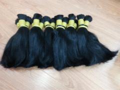 Natural cor preta # 1, # 1B cabelo virgem