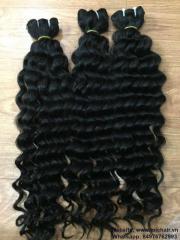 Deep wavy hair weft