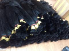 DOUBLE DRAWN STRAIGHT BULK HAIR WITH QUALITY