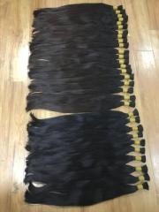 Curly machine hair weft 100% human hair