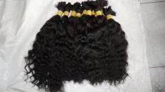Ligeiro ondulado natural do cabelo humano