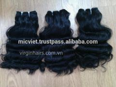 Vietnamese machine wavy hair weft hair extension