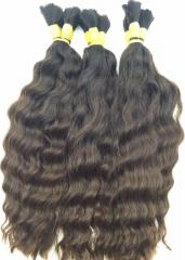 ALL STRAIGHT HAIR BROWN HAIR BULK LENGTHS