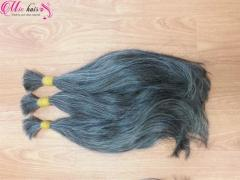 Unprocessed grey hair 100% in both weft and bulk