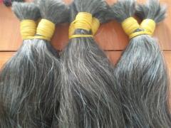 Grey hair 100% unprocessed hair
