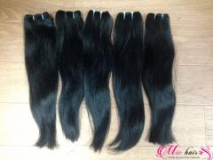 Straight machine weft human hair extention