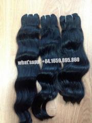 100% real human hair body wavy hair