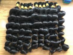 100% real human hair deep wwavy no tangle no sheeding