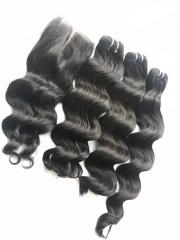 CURLY HUMAN HAIR MACHINE WEFT NO SHEDDING NO TANGLE
