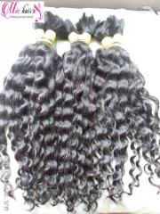 Hot wholesale machine curly Vietnamese hair no tangle no sheeding