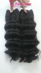 Body Wavy 100% Human Hair weft Machine Extensions
