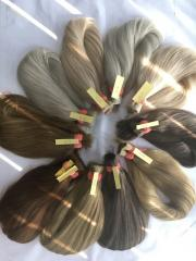 Blonde # 613 Straight Virgin Hair Bulk No Chemical