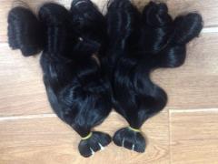Vietnamese human remy hair no tangle fumi hair weaving soft