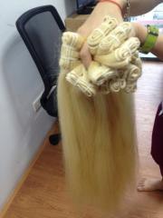 Remy Human Hair Good Quality Straight Blonde Hair Bulk High Quality