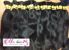 Virgin remy natural color straight double Viet nam hair