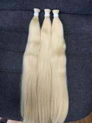 Color #60 human remy Viet Nam hair extension