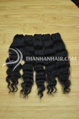 Human hair vietnamese  weft hair high quality