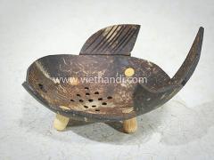 Fish Coconut shell soap dish