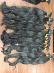 Natural human hair gray hair 60cm-70cm