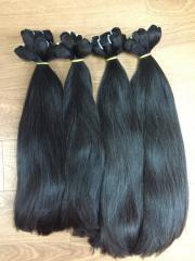 100% Natural Human Hair Extensions Straight Weft Hair