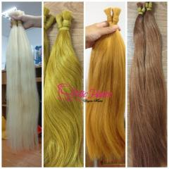 Blonde Straight Bulk Human Hair