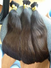 Straight double dark brown natural color Viet Nam hair