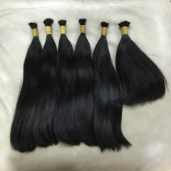 Black wavy hair in bulk 100% human hair no mixed no synthetic fibers