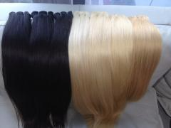 Long lasting Color weft hair high quality