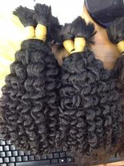 Wholesale wavy hair 100% human hair in bulk soft