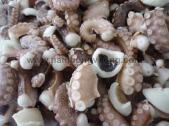 Cut Cooked Octopus