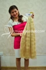 Long hair color hair from Vietnamese woman